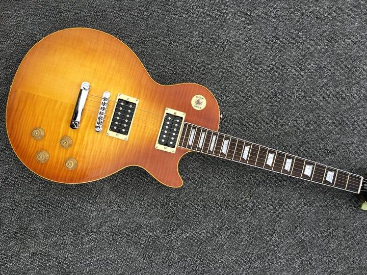 2018 Nouveau + guitare usine + Chibson LP personnalisé guitare électrique jaune LP personnalisé 1959 guitare Livraison Gratuite