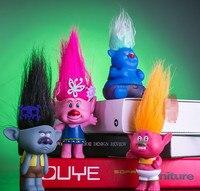 4 Styles 19 cm Trolls Action Figure Jouets avec la Boîte Pavot Branche Créature Skitter PVC Chiffres Trolls Jouets Pour Enfants