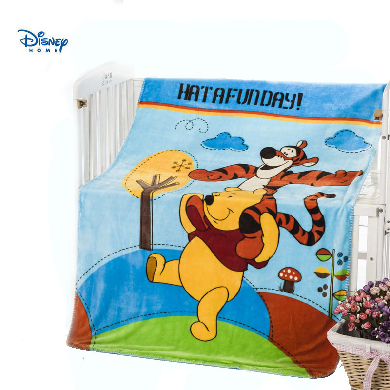 flannel soft winnie the pooh blanket for sofa car 100*140cm kids boy girl home decor single twin size bed spreads disney linens