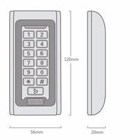 Metal Case 100 Waterproof IP68 RFID Standalone Door Access Control Keypad Proximity Card Reader Can Put