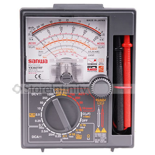 New Japan Sanwa YX360TRF Analog Multimeter Tester DC YX-360TRF yx 361tr analog analogue multitester multimeter wide measurement range yx361tr analog pointer multimeter