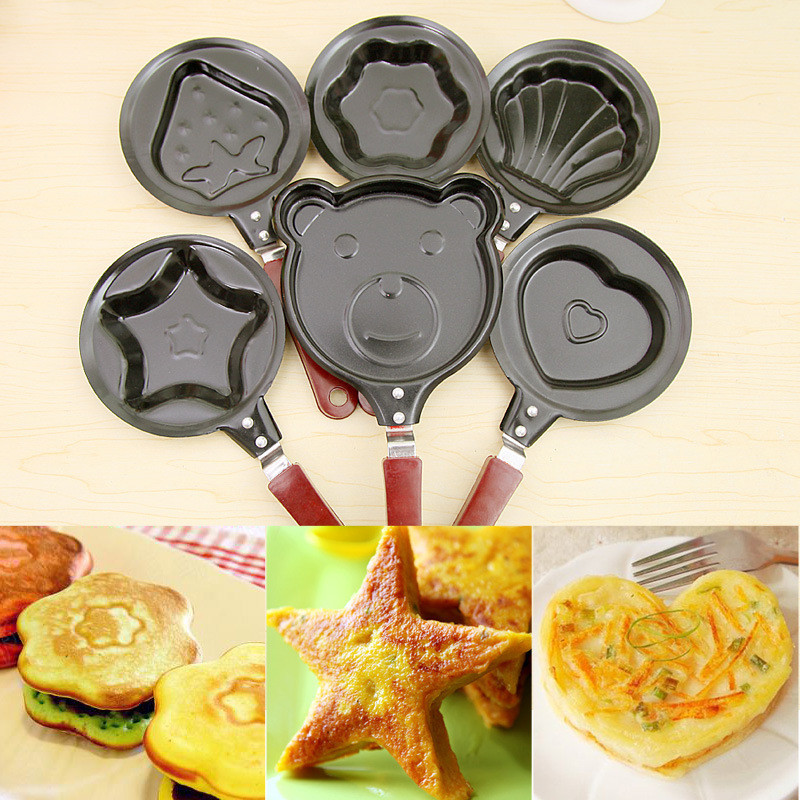 12 CM Cute Shaped Egg Mould Pans Cast Iron Nonstick Stainless Mini Breakfast Egg Frying Cooking Tools Steel Kitchen Accessoories