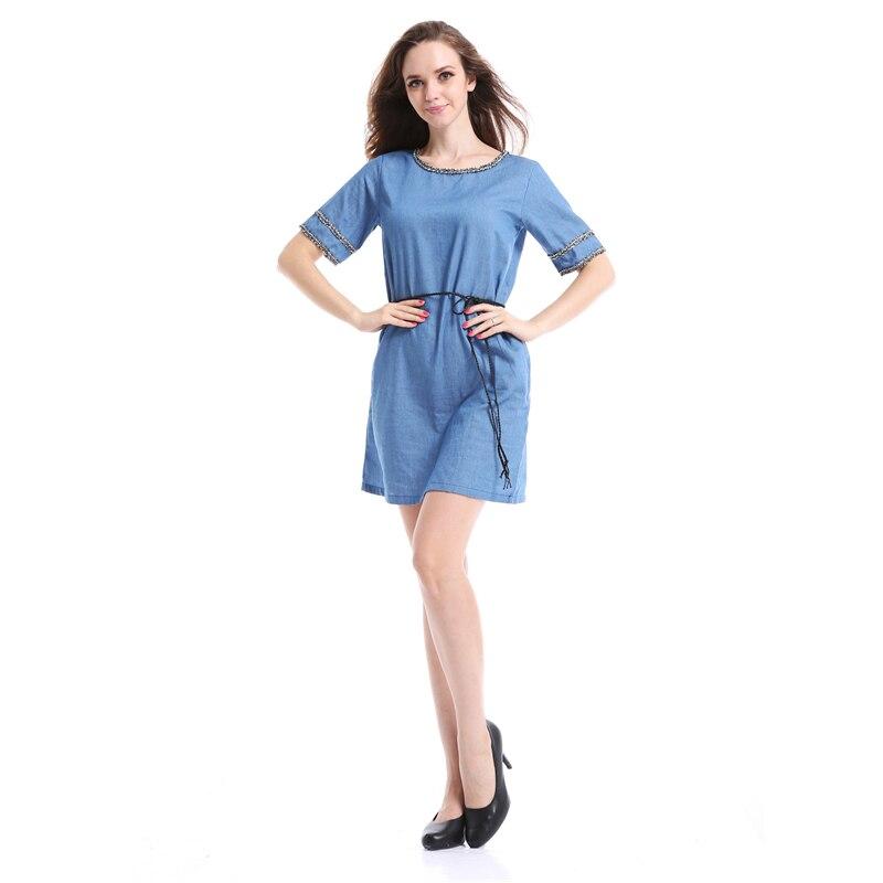 6XL Plus Size 2016 Denim Dress Womens Casual Style ...
