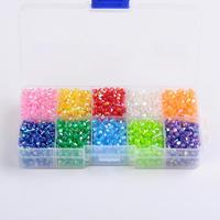 Ten Color Boxed Environmental AB Color Plated Transparent Acrylic Beads Faceted Bicone Mixed Color 4x4mm Hole