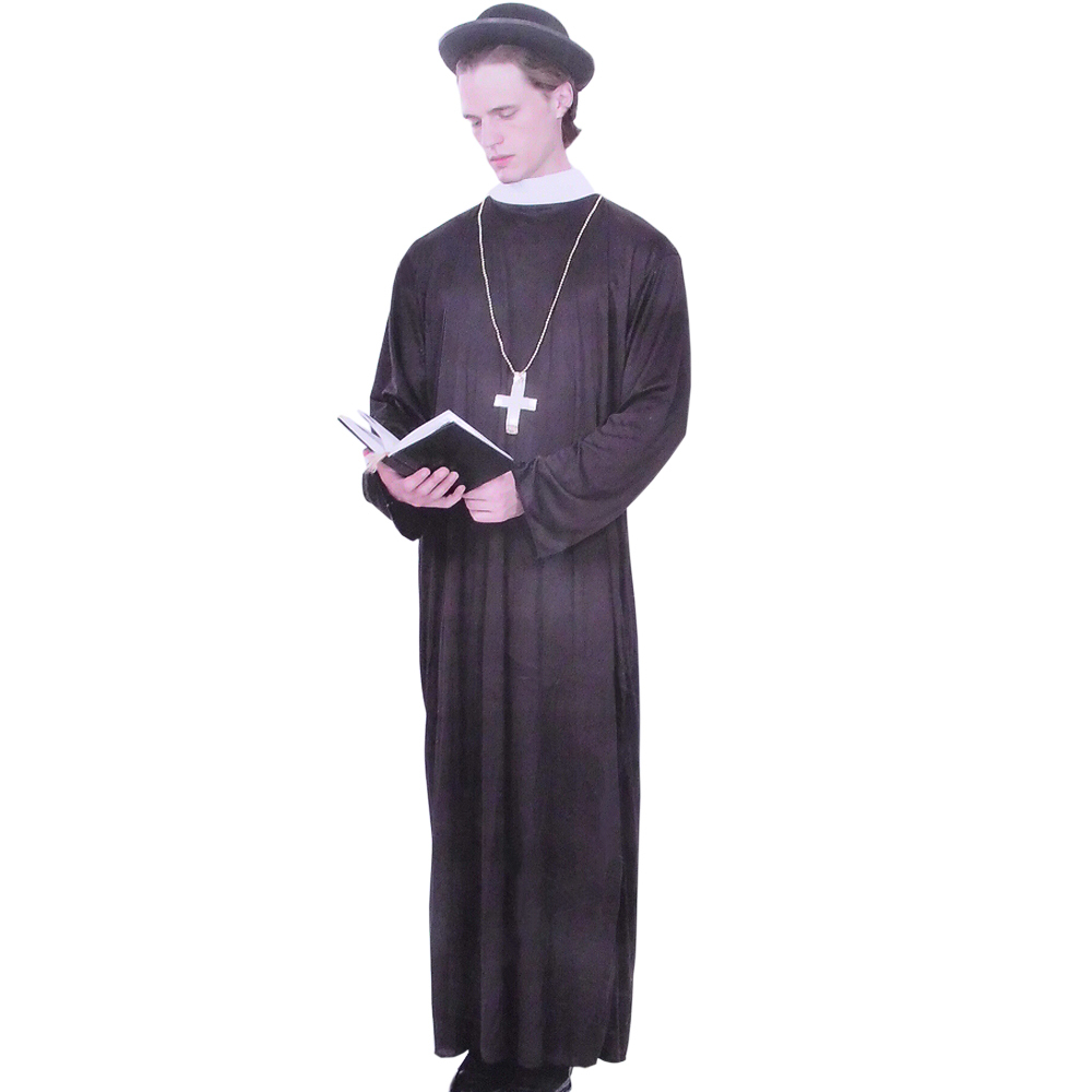 Halloween clothes masquerade party cosplay costume priest missionary costume