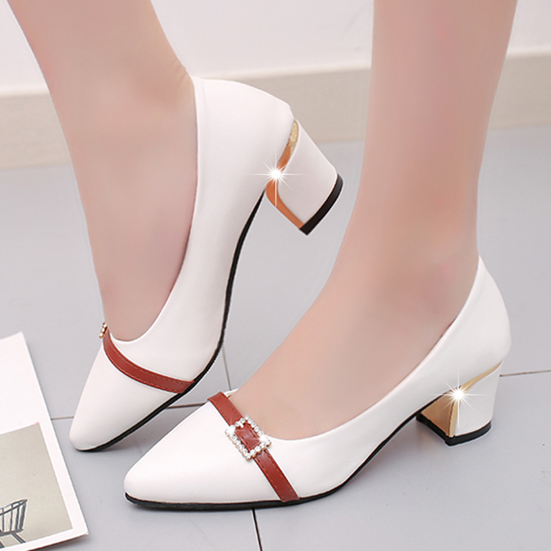2019 Summer Office Shoes Women Pumps High Heels Party Simple Pointed Shallow High Heels Woman Office Shoes Women