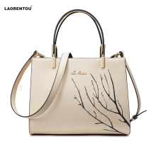 LAORENTOU Zipper Women's Cow Leather Shoulder bag & Handbag Female Bags Lady Totes Bags