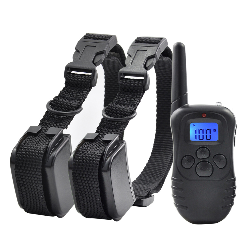 Petrainer 998DR Waterproof Electronic Dog Collar Remote Control No Shock Pet Training Collar With LCD Display for 1/2 dogs  dog care training collar