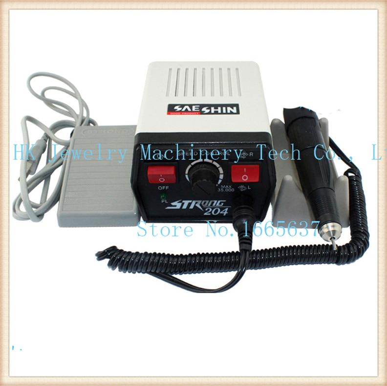 35K Dental Lab MARATHON Micromotor STRONG 204 Polishing High speed Handpiece 2.35mm dental lab marathon handpiece 35k rpm electric micromotor polishing drill burs