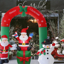 18m inflatable santa claus christmas outdoors ornaments xmas new year party shop yard garden decoration christmas ornament - Cheap Christmas Yard Decorations