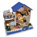 Handmade Doll House Furniture Miniatura Diy Doll Houses Miniature Dollhouse Wooden Toys For Children Birthday Gift Craft TB1