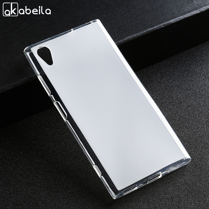 Soaptree Silicone Phone Cases For <font><b>Sony</b></font> Xperia XA1 Plus G3412 G3421 G3423 <font><b>G3416</b></font> 5.5 inch Case Soft TPU White Back Cover image