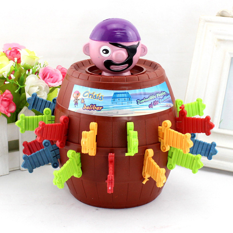 Novelty & Gag Toys The Fancy Toy Pirate Party Game Fun Toys Barrels for Party Game Props