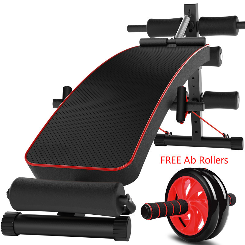 Folding male and female household folding multi-purpose multi-position adjustable dumbbell bench supine board JS01 ancheer foldable adjustable sit up abdominal bench ab exercise bench multifunction supine dumbbell bench fitness chair
