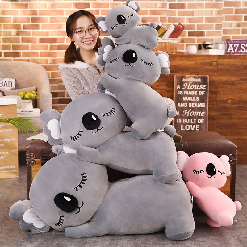Cartoon Soft Koala Bear Plush Toy Doll, Koala Animal Doll, Kids Toys, Holiday Gifts, Home Decoration 35CM/50CM/60CM/75CM/95CM