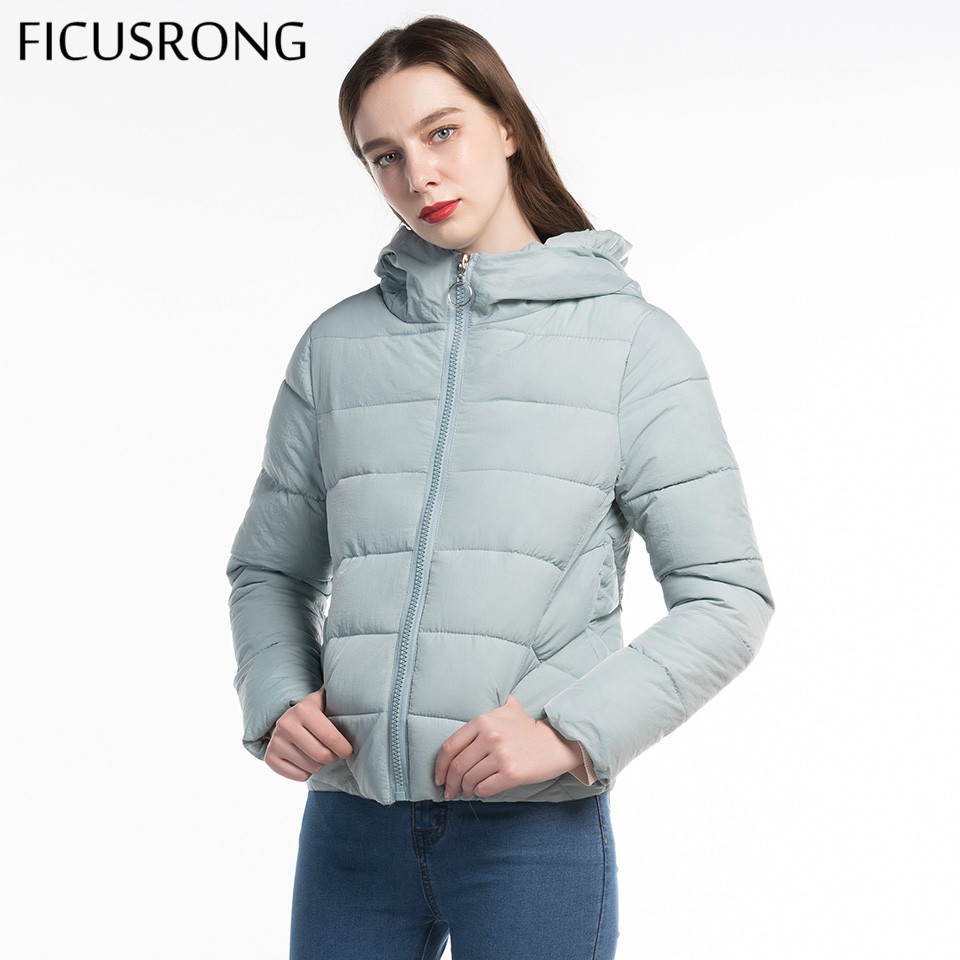 Plus Size L-6XL Solid Women   Basic     Jacket   Coat Warm Autumn Winter   Jacket   Women Fashion Zipper Slim Hooded Parkas Female FICUSRONG