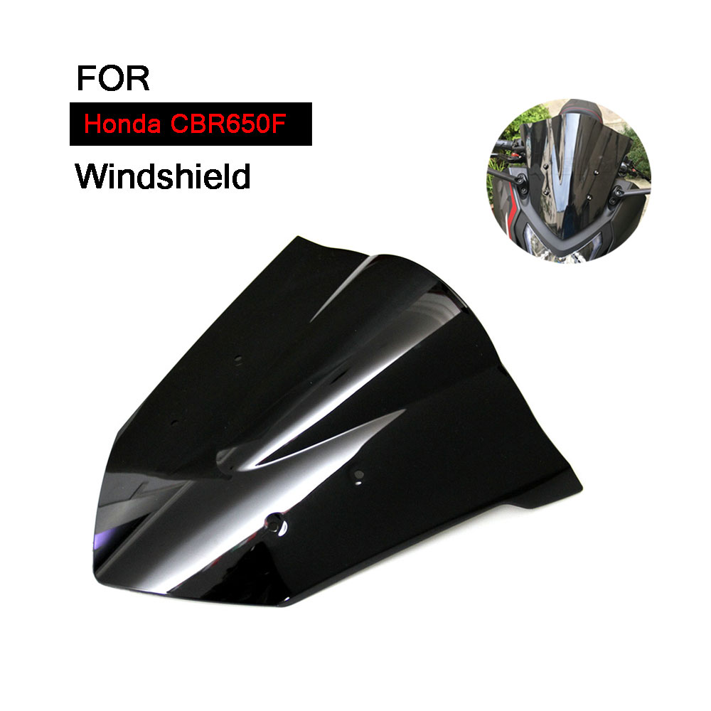 for Honda CBR650F Windscreen 2014-2017 Year Motorcycle 2015 2016 CBR 650F Windshield Iridium Wind Deflector