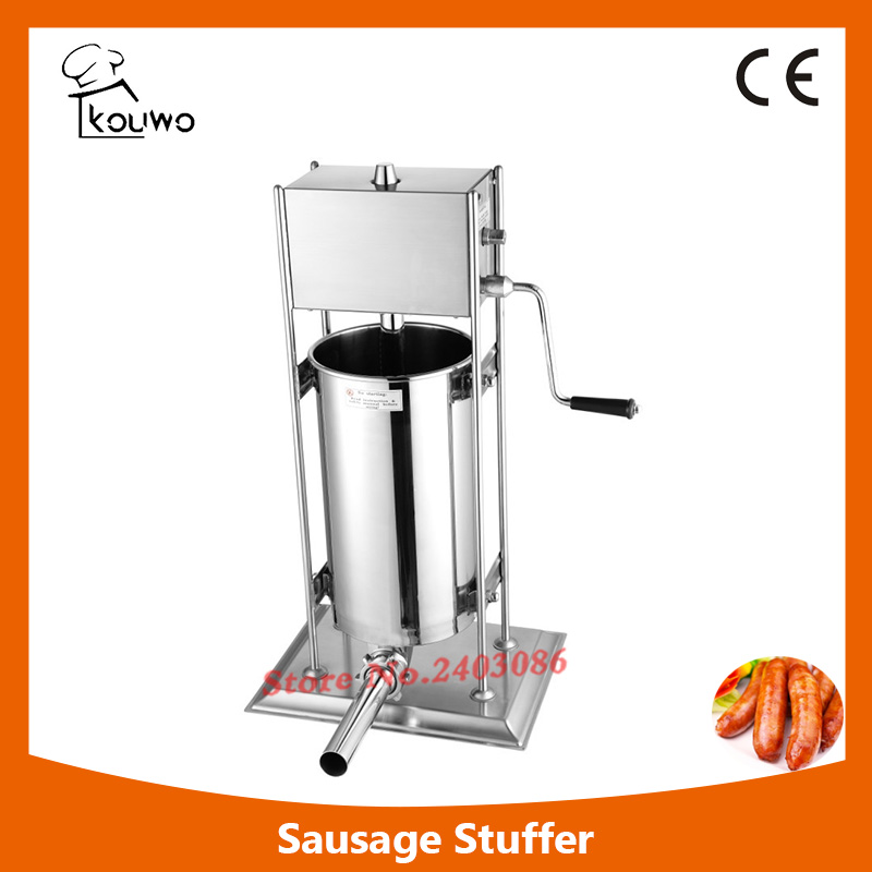 15L vertical manual stainless steel sausage stuffing machine with different sausage funnel,sausage maker,sausage making machine 2l spanish manual stainless steel churro maker machine