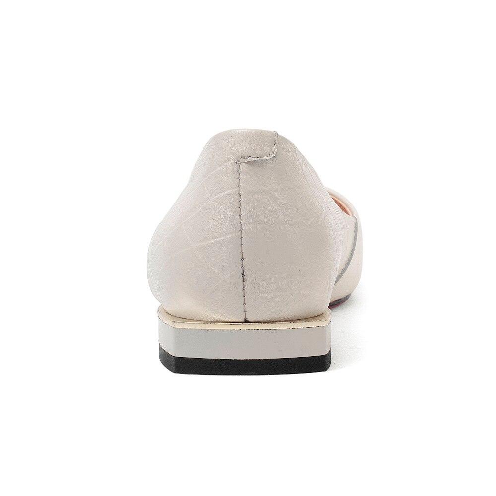 Cuadrado Moda Mujeres Oficina L52 Vaca Colores Deslizamiento De Señora Cuero Dulce Beige Elegante Mezclados En 2018 Bajo Concise Bombas Clásicos Zapato Tacón wApqY50nx