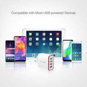 Image 4 - Зарядное устройство BlitzWolf QC3.0, 4 порта, быстрая зарядка, европейская вилка, светодиодная подсветка, 30 Вт, 2,4 А, USB, для путешествий, для iPhone, Android, N Swich
