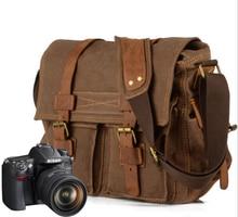 For Canon / Nikon casual photography waterproof liner SLR camera bag canvas shoulder Messenger bag цена и фото