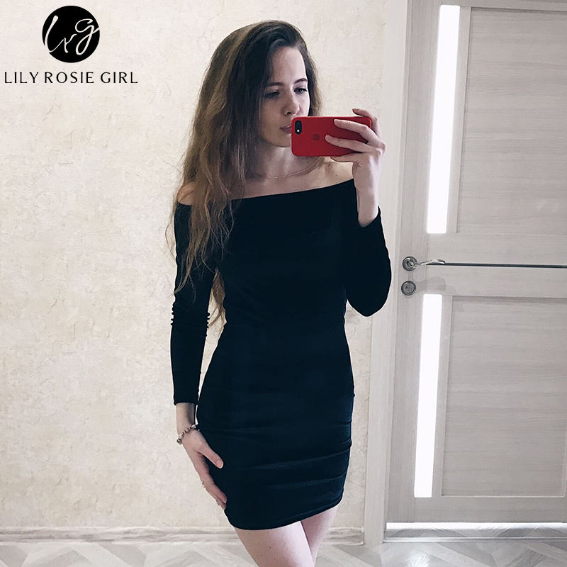 Sexy Off Shoulder Wine Red Velvet Winter Party Dress Women Long - Pakaian wanita