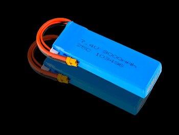 Rc Lipo הסוללה 7.4V 3000mAH 25C 2S Lipo סוללה משודרג סוללה עבור MJX B6 B8 באגים 6 RC Quadcopter