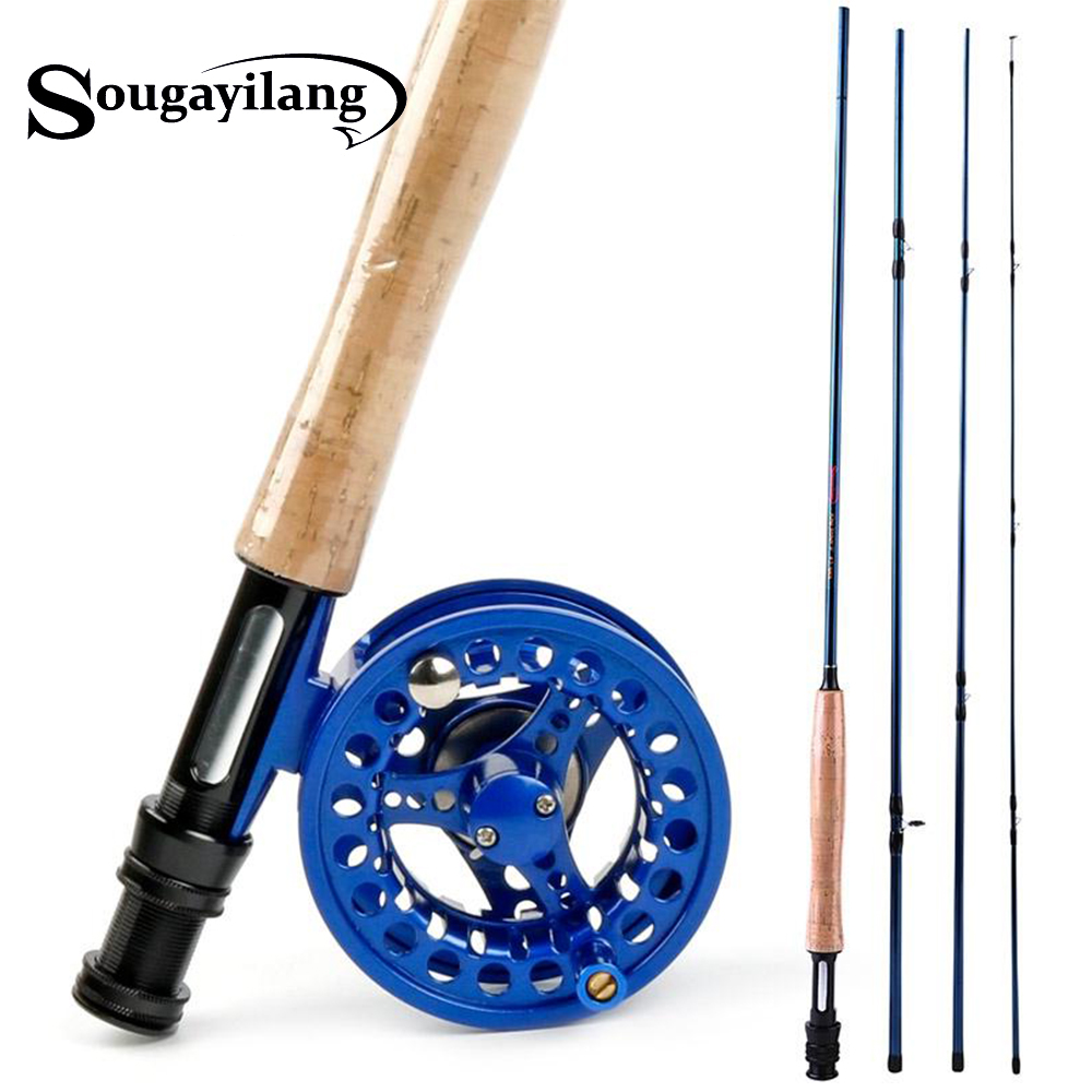 Sougayilang 2 7M 8 86ft Light weight Ultra Portable Fly Fishing Rod and Reel Carbon Fly