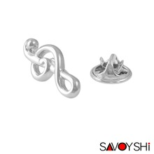 SAVOYSHI Fashion Music note Design Men Lapel Pin Brooches Pins Fine Gif
