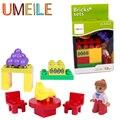 UMEILE Original Classic City Girl Gran Edificio Blcok Duplo City Girl Princess Figura de Uva Niños Juguetes Compatibles con Duplo Legoe