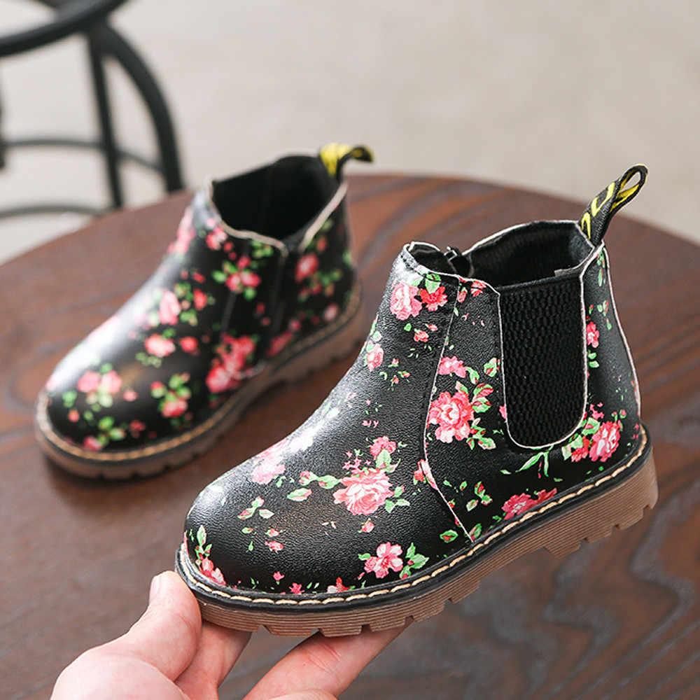 ילדי מגפי אופנה תינוקת נעלי בני בנות מרטין נעל עמיד למים שלג מגפי נעלי תינוק ילדים ילדה אופנה סניקרס