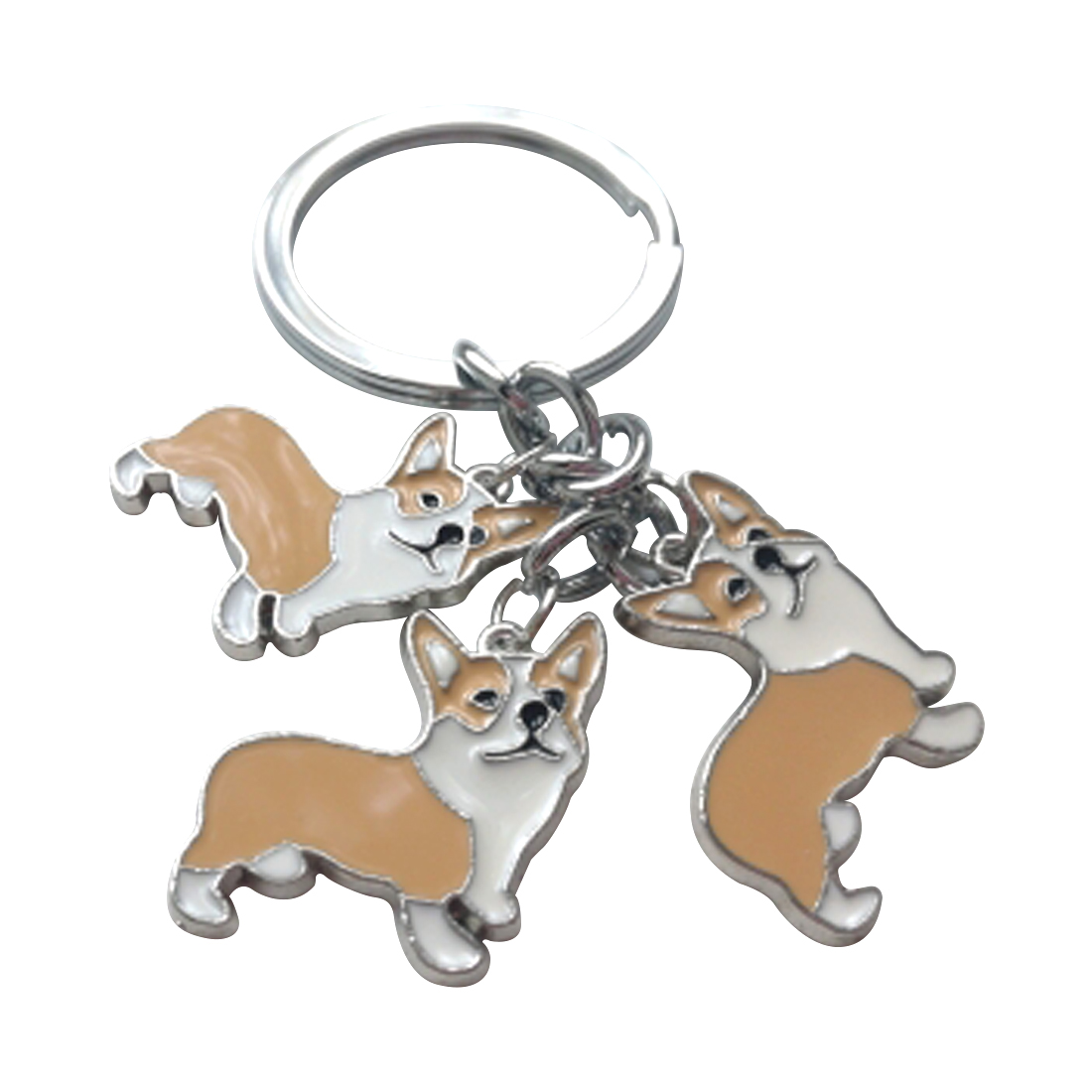 Automobiles & Motorcycles Interior Accessories Popular Brand Metal Pet Key Chain Welsh Corgi Dogs Key Ring Bag Charm Lovely Keychain Car Keyring Gift Women Jewelry Soft And Light