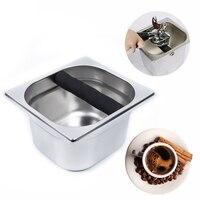 Контейнер для кофе из нержавеющей стали, лоток для кофе, кухонный лоток для инструментов, кухонный инструмент, портативный контейнер для му...