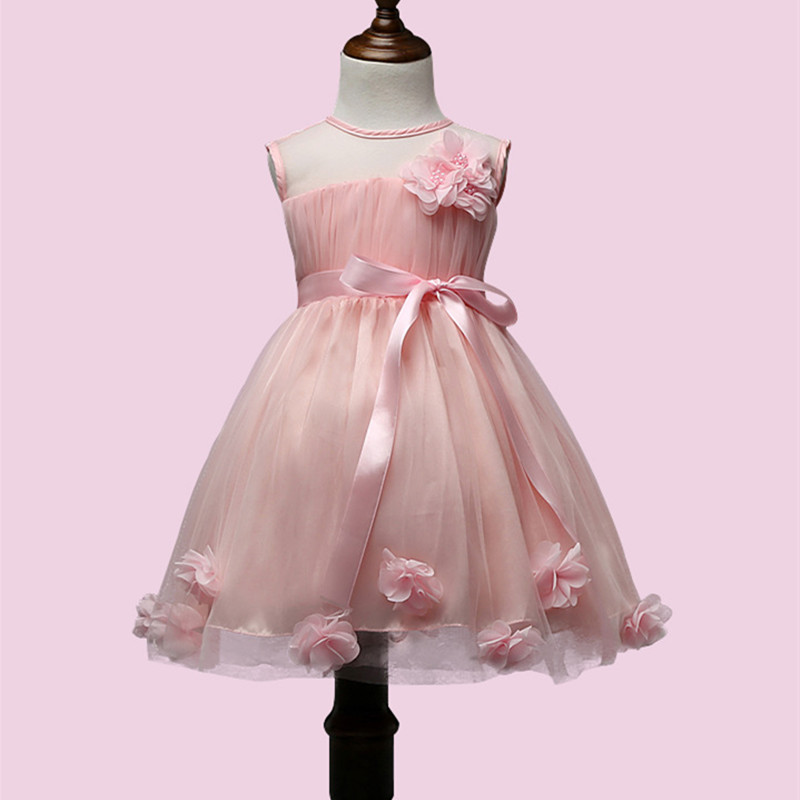 0-10 years old girl dress European version of refined cotton A-lined flower dress girl Daisy dress