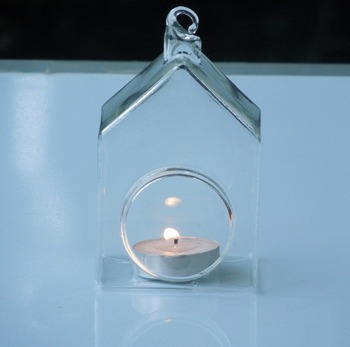 Free Shipping 8pcs/pack Glass Candle Holder Egg Shaped and Mini House Handmade Lamp Blown Glass Craft