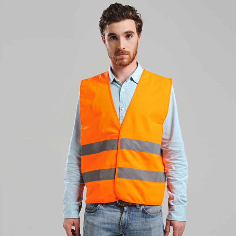 New Arrival Hi vis vest fluorescent yellow orange thin breathable reflective vest safety vest free shipping power pro hi vis yellow 92м 0 08mm
