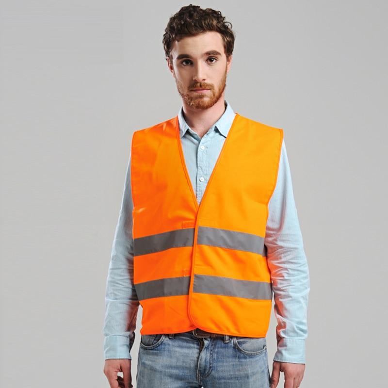 New Arrival Hi vis vest fluorescent yellow orange thin breathable reflective vest safety vest free shipping цена