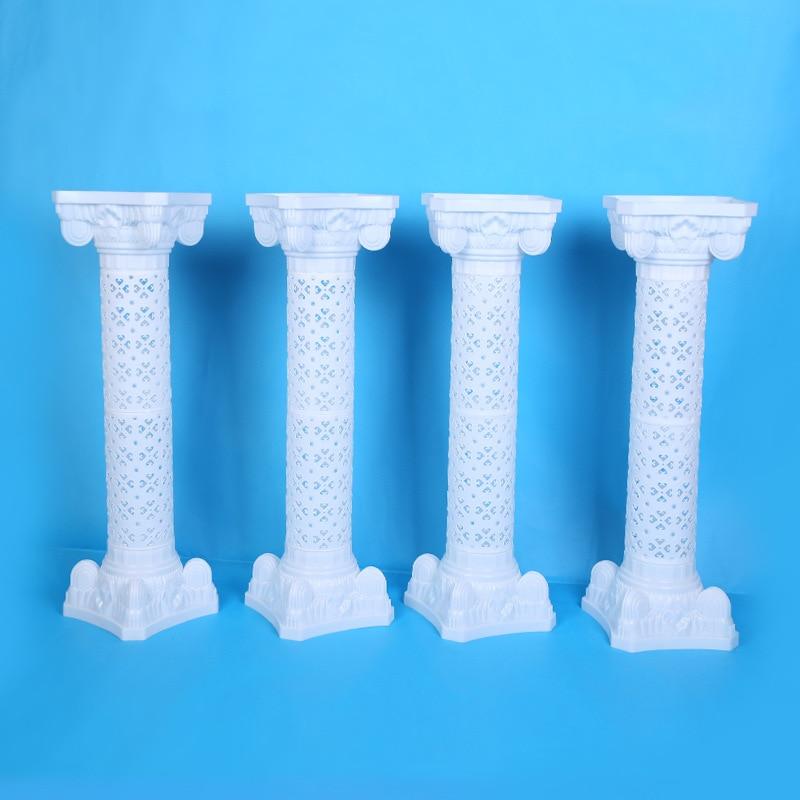 Europese stijl 98 cm hoogte wit luxe Plastic holle Romeinse kolom - Feestversiering en feestartikelen - Foto 6