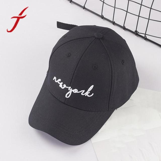 FEITONG Nueva YORK letras bordadas verano sombreros para Unisex mujeres  hombres Casual Pokemon sombreros Hip Hop cdfd7e5bf3f