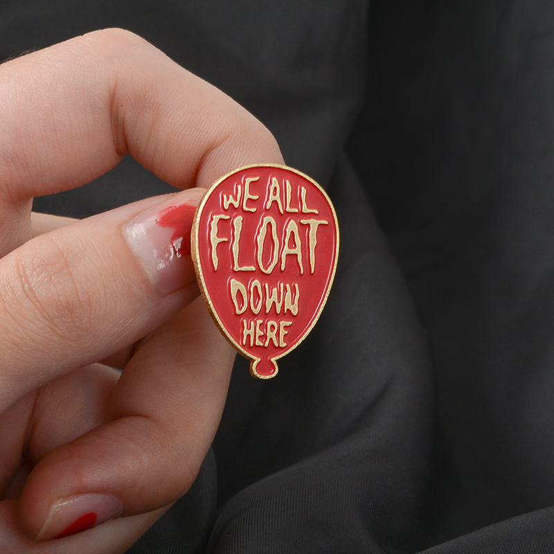 Lapel Pins Jewelry Badges It Movie Stephen All-Float-Down Pennywise Horrible King's Here