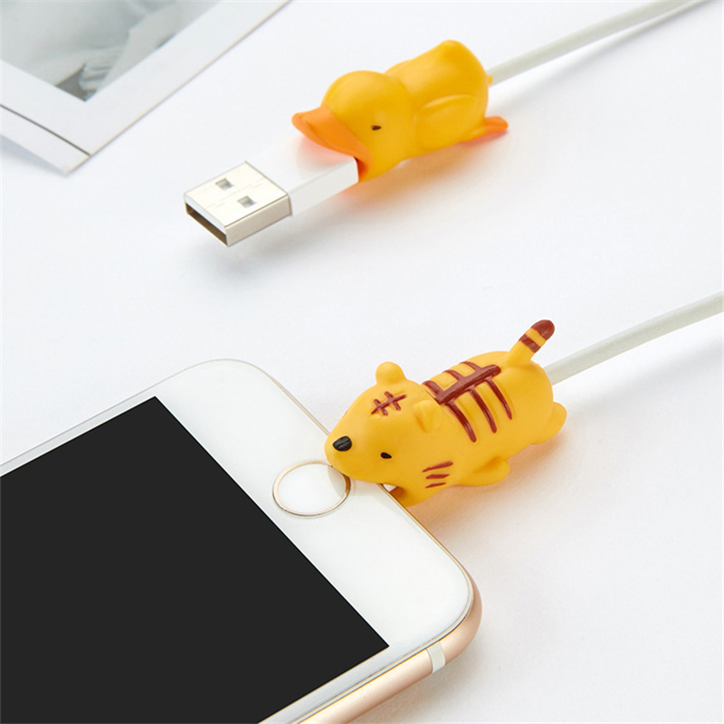 HTB1aEiia3KG3KVjSZFLq6yMvXXaA FFFAS Japan USB Cable Bite Cellphone Decor Animal Protector Organizer Charger Wire Head Winder for Iphone 7 8 X Plus Wholesale