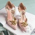 Высокого Класса Различных Простой Нубук Кожа Застежка Т Ремень Ежедневно Пу Овчины Женская Обувь Горный Хрусталь Вечерние Обувь Женщины Марка обувь