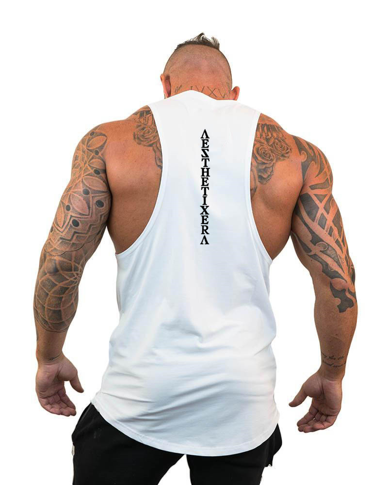 Brand clothing gyms tank tops men canotta bodybuilder tank top workout singlet fitness stringer tanktop muscle sleeveless shirt 5