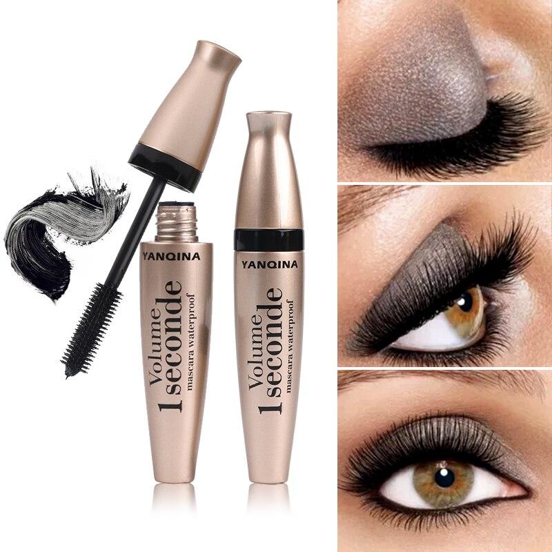 Waterproof Eye Mascara Makeup Silicone Brush Head Mascara Long-lasting Curling Eye Lashes Thick Lengthening Eyelash Cosmetic