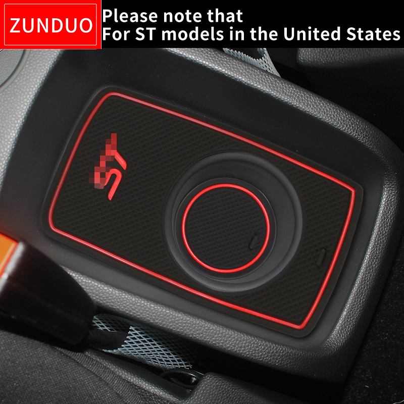 ZUNDUO Gate slot pad For For FORD 2008-2016 FIESTA ST Accessories,3D Rubber Car Mat Interior Door Pad/Cup HoldersZUNDUO Gate slot pad For For FORD 2008-2016 FIESTA ST Accessories,3D Rubber Car Mat Interior Door Pad/Cup Holders
