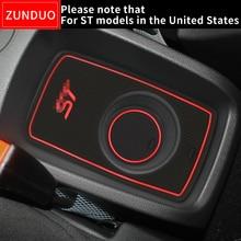 ZUNDUO ворота Слот pad для FORD 2008-2016 Fiesta ST аксессуары, 3D автомобильный резиновый коврик Межкомнатная дверь Pad/подстаканники