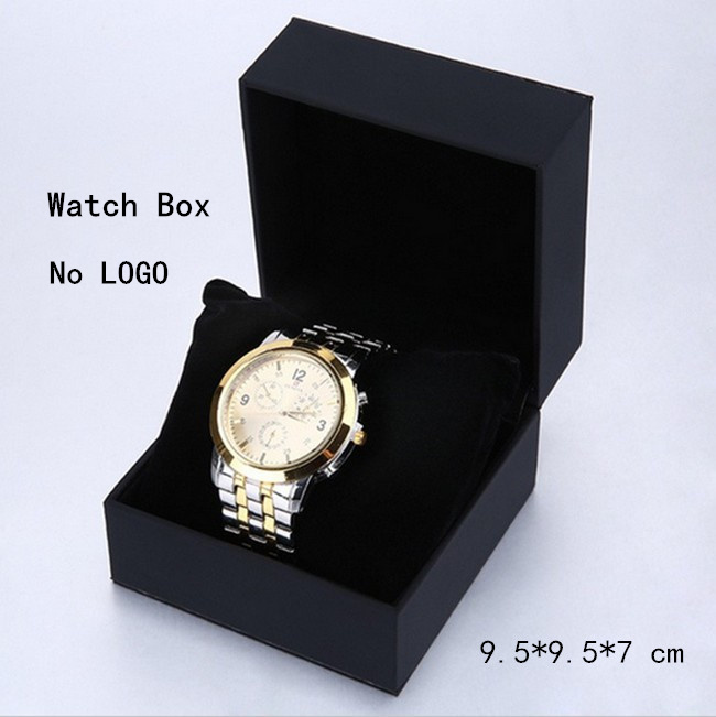 Wholesale black watch storage box square soft watch box fashion watch organizer and packing gift for Watches box