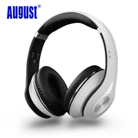 August EP640 Wireless Headphones Bluetooth 4 1 Over Ear Stereo Headphones With Microphone NFC AptX Headset