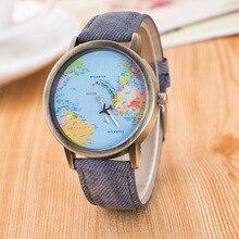 AAA Hot Sale Mini World Fashion Quartz Watch Women Men Unisex Map Airplane Trave