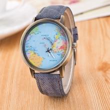 AAA Лидер продаж Мини Мир моды кварцевые часы Для женщин Для мужчин Мужская карта самолет путешествия по всему миру Для женщин Кожаные модельные туфли J1607-01